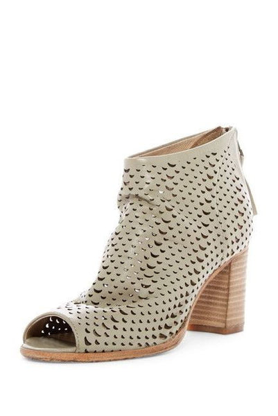 """Paola"" Leather Bootie in Taupe"