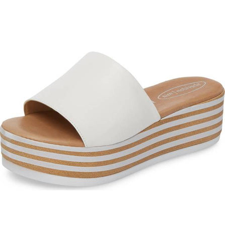 Reesa Platform Slide Sandal in White