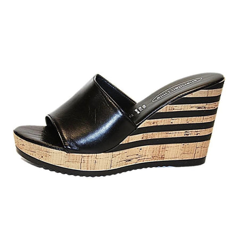 Rona Platform Slide Sandal in Black