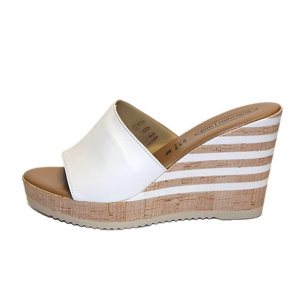 Rona Platform Slide Sandal in White