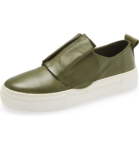 RYE Leather Sneaker in Khaki
