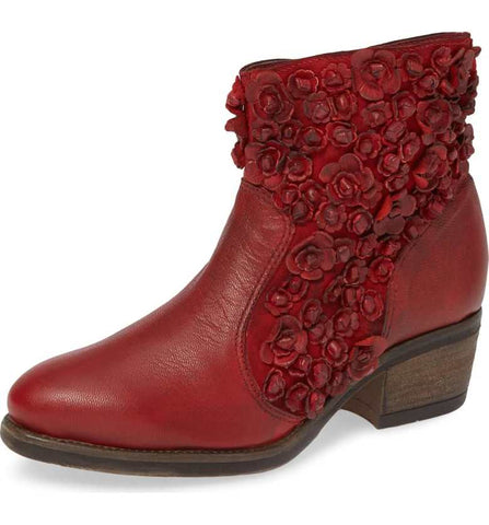 Sapphire Bootie in Red