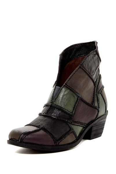 Sundance Black Patchwork Leather Boot