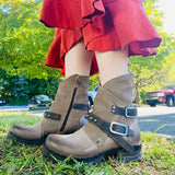 STEPPE Moto Bootie in Taupe