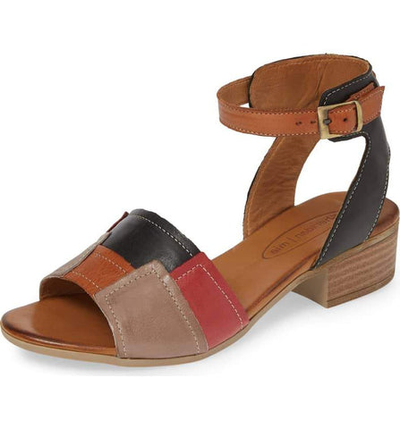 Tibet Colorblock Sandal in Browns
