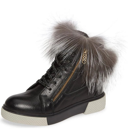 TOAST Sneaker Bootie with Fur