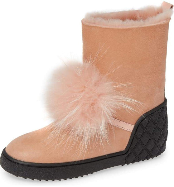TOTO Genuine Fox Fur Bootie