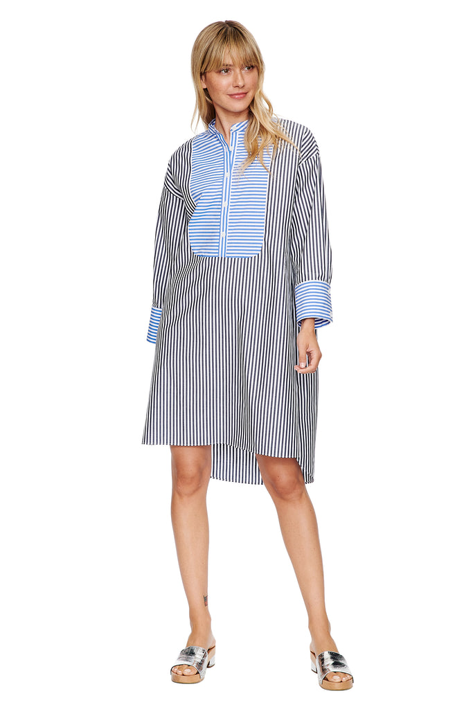 Mixed Stripe Tunic Dress