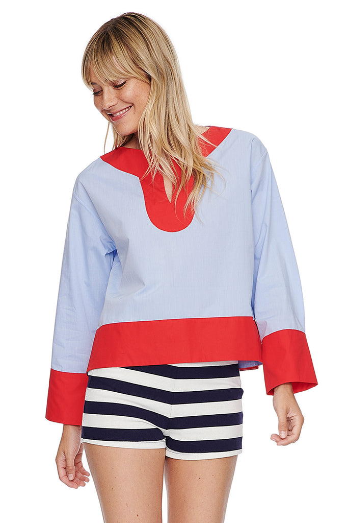 Color Block Pieced Tunic