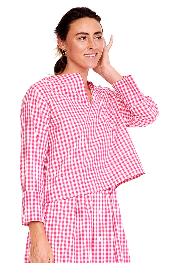 Pink Check Tunic 2 left