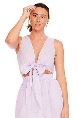 Lavender Eyelet Sleeveless Everything Top