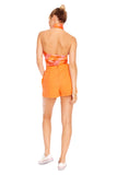 Orange Eyelet Short 2 left