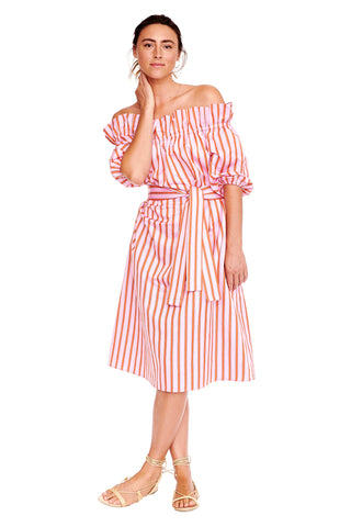 Pink Stripe Amy Dress 2 left