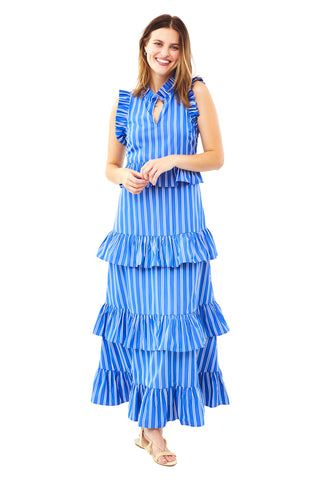 Ray Stripe Soirée Dress