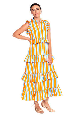 Stripe Soirée Dress 3 left