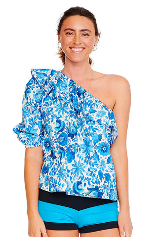 Mexican Floral One Shoulder Top