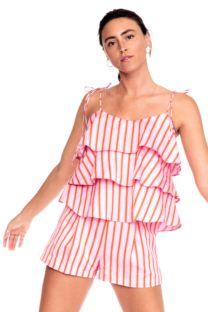 Pink Stripe Cami 1 left