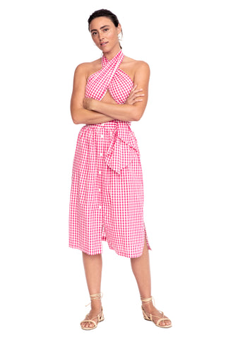 Pink Check Skirt 1 left