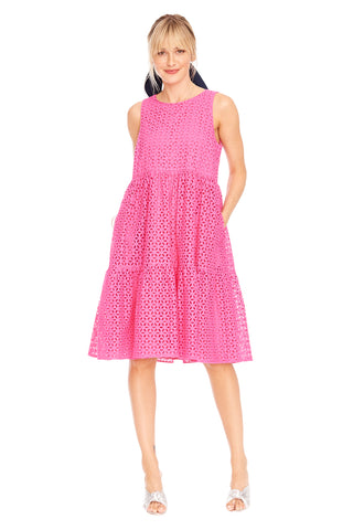 Eyelet Sleeveless Peasant Dress 2 left