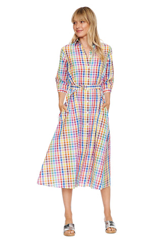 Rainbow Check Shirtdress