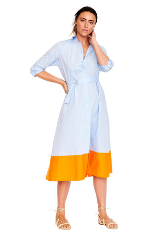 Color Block Shirtdress 1 left