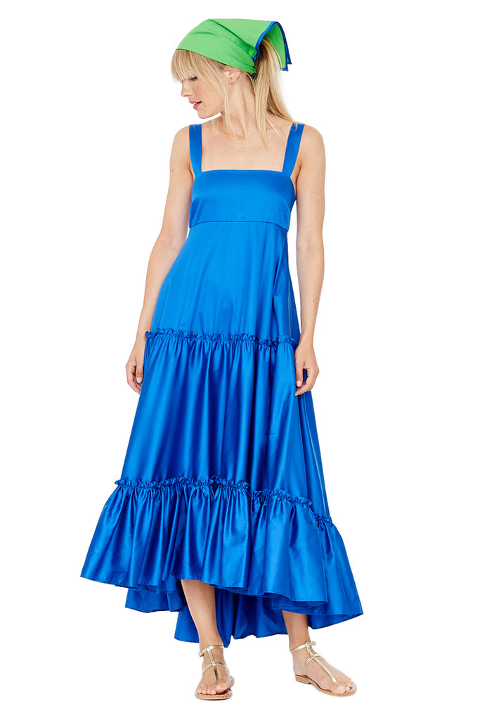 Cobalt Tiered Tank Dress