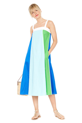 Vertical Stripe Cami Dress