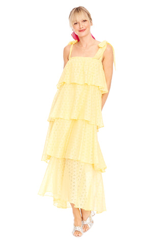 Eyelet Tiered Cami Dress