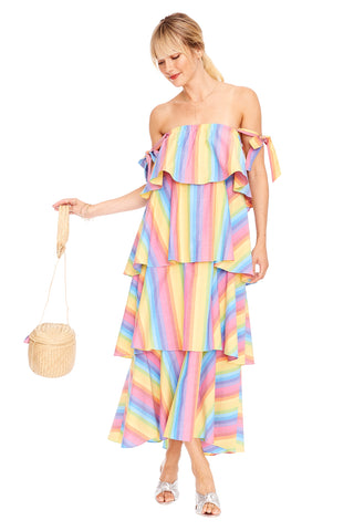 Stripe Tiered Cami Dress 2 left