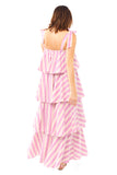 Stripe Tiered Cami Dress