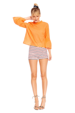 Navy Coral Lucy Short 1 left
