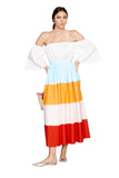 Colorful Color Block Skirt