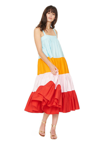 Colorful Color Block Dress 2 left
