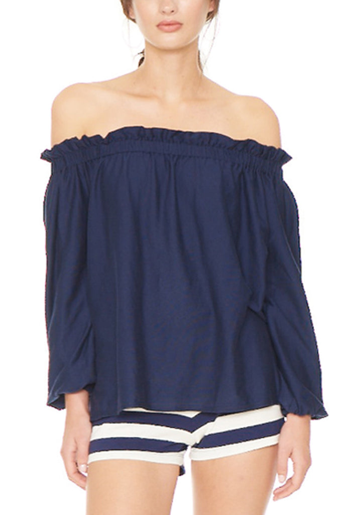 Navy Lauren Top