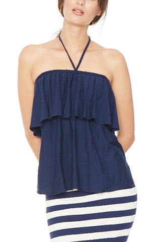 Navy Lily Top 2 left