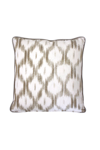 Neutral Ikat Pillow 2 left
