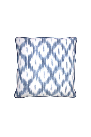 Indigo Ikat Pillow 2 left