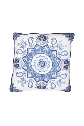 Indigo Medallion Pillow 2 left