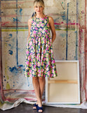 Floral Sleeveless Peasant Dress