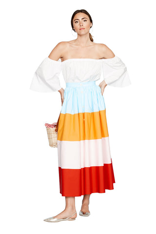 Colorful Color Block Skirt 3 left