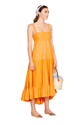 Orange Tiered Tank Dress 3 left