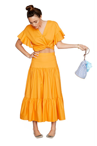 Orange Tiered Skirt 2 left
