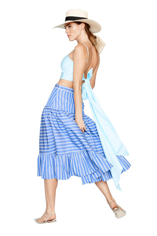 Striped Tiered Skirt 2 Left