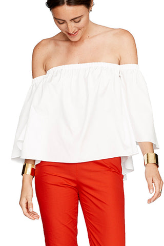 White Off The Shoulder Top 3 left