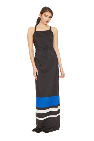 Colorblock Silk Dress