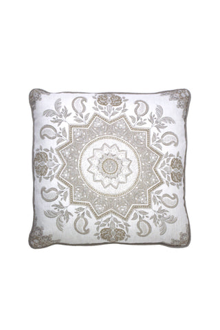 Neutral Medallion Pillow 2 left