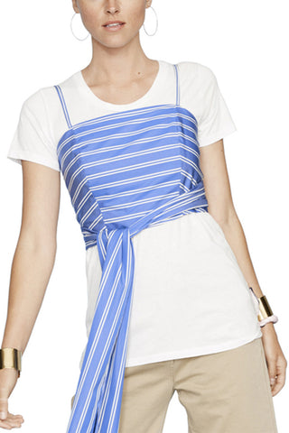 Blue Striped Everything Top