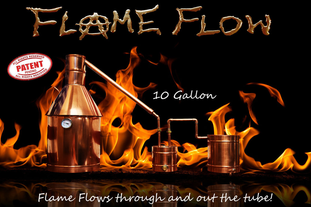 TDN - Flame Flow™ 10 Gallon Copper Moonshine Liquor Distillation Unit - The Distillery Network Inc