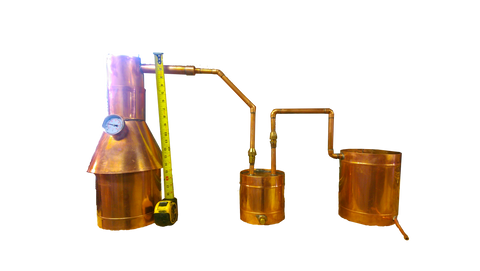 TDN - 2 Gallon Copper Moonshine Still - Complete + Upgraded Thumper and Worm - The Distillery Network Inc