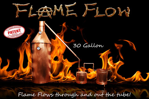 TDN - Flame Flow™ 30 Gallon Copper Moonshine Liquor Distillation Unit w/ Lifetime Warranty - The Distillery Network Inc
